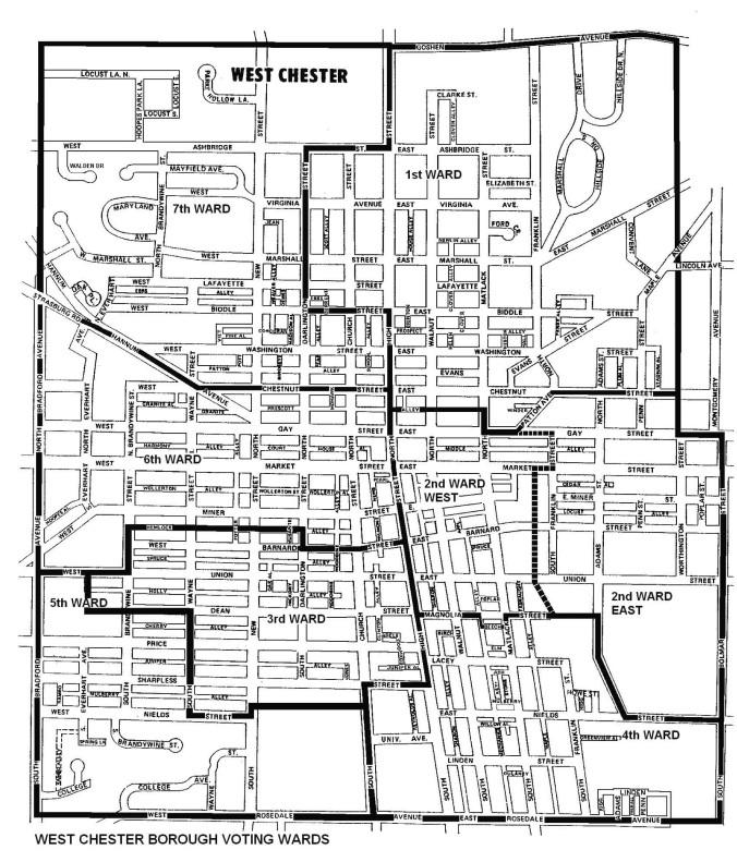 2013 West Chester Borough Ward/Precinct Map