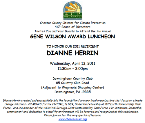 4CP Gene Wilson Award 2011 to Dianne Herrin
