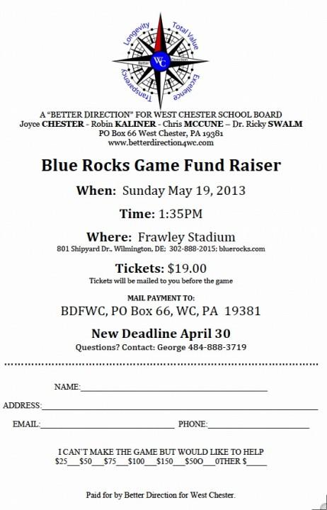ABD WCASD Blue Rocks fundraiser