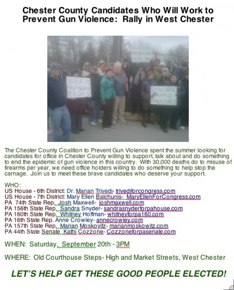 Gun violence prevention rally 9:20:14