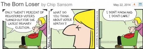 Voter apathy : born loser