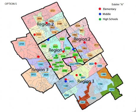 WCASD regions map