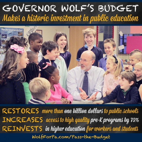 Wolf budget - education